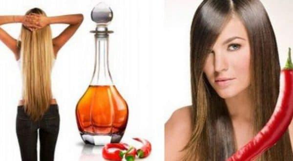 Маска для роста волос с красным перцем и маслом