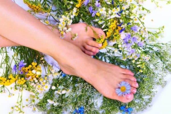 Результат применения кремов от запаха и пота ног