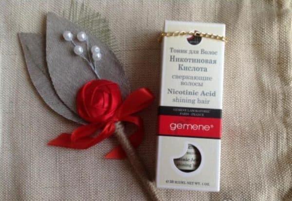 Тоник для волос с никотиновой кислотой Gemene