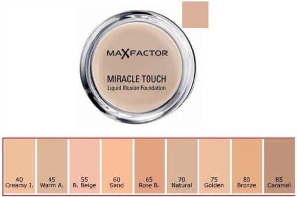 Палитра тонального крема Miracle Touch