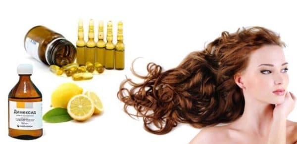 Витамины с Димексидом для блеска волос