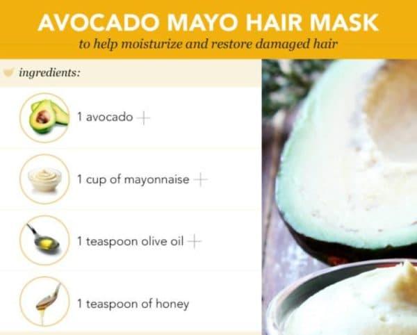 Маска для волос из майонеза и авакадо