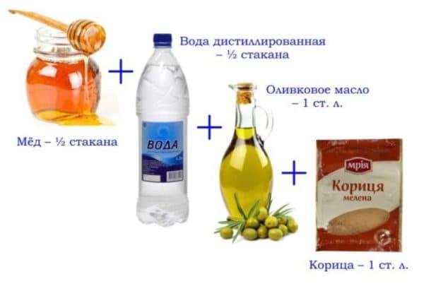 Маска для волос с корицей и мёдом и с дистиллированной водой