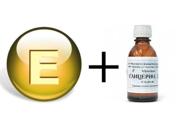 Маска для волос с глицерином и втамином Е