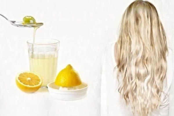 Кефирная маска для волос с лимонным соком и оливковым маслом