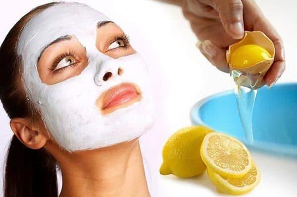 Маска для лица с яичным белком и лимонным соком