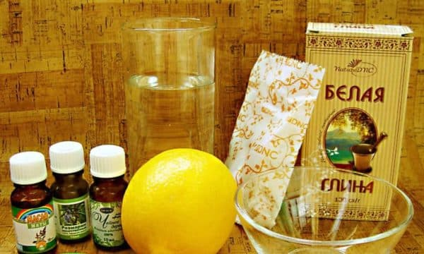Маска для волос из белой глины лимона эфирных масел