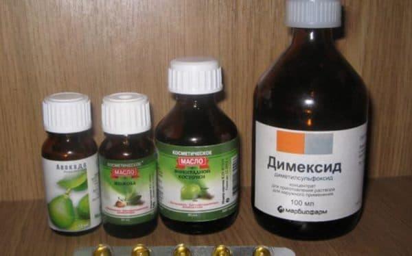 Масла и витамины которые применяют с Димексидом в масках для волос