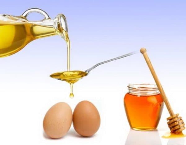 Яичная маска для волос  с оливковым маслом и мёдом