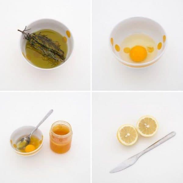 Ингредтиенты для масок для лица с желтком