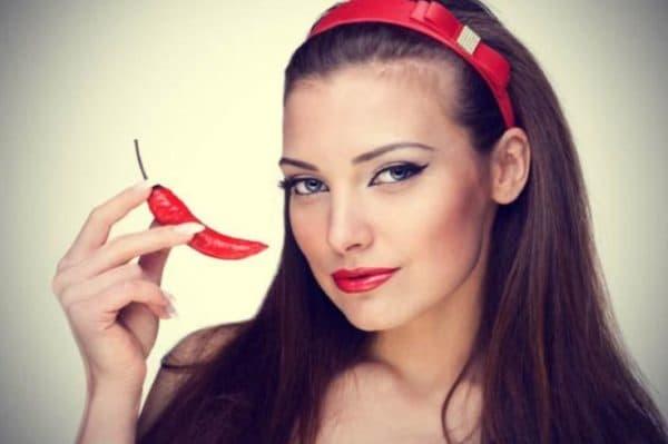 Результат применения маски для волос с настойкой красного перца