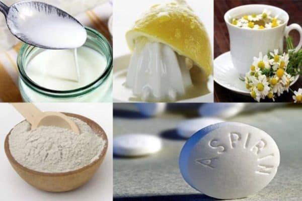 Маска для лица с кефиром и аспирином
