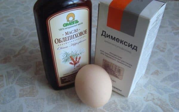 Облепиховая маска для волос с яйцом и Димексидом