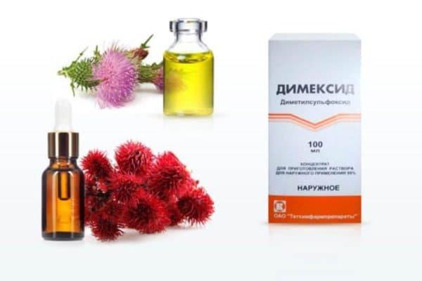 Маска с Димексидом, витаминами и эфирными маслами