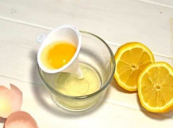 Медовая маска для лица с яйцом и лимоном