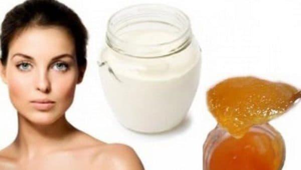 Маска для волос со сметаной и мёдом