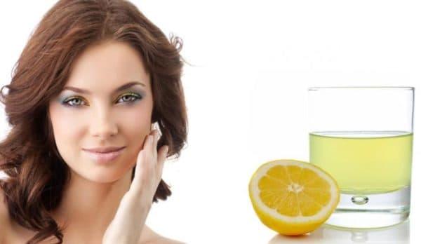 Вода с лимоном от перхоти