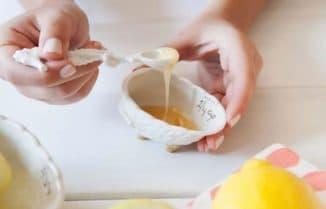 Маска для лица с мёдом и лимоном