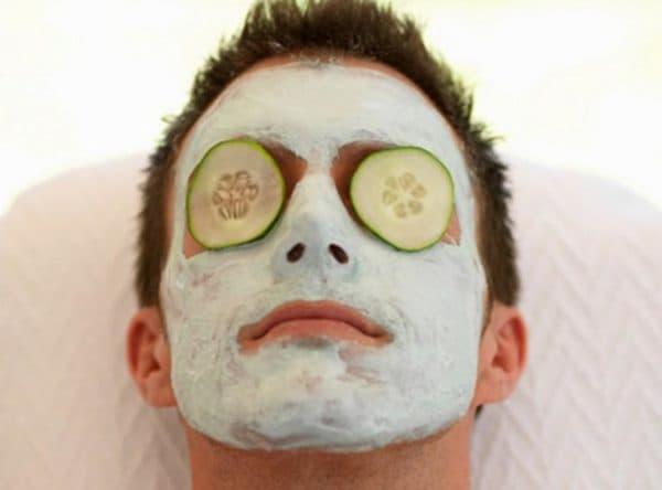 Сметанная маска для лица для мужчин