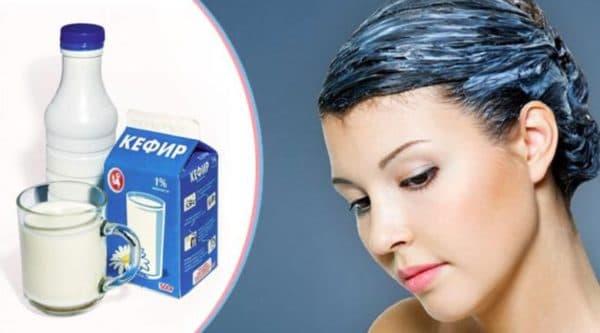 Маска для сухих кончиков волос из кефира