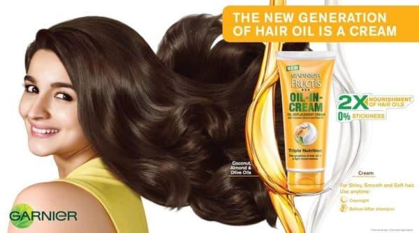 Масло-крем для волос Oil-in-cream Гарньер
