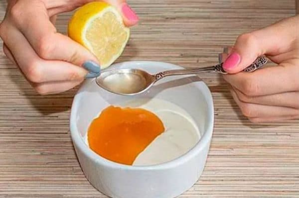 Маска для лица с мёдом и лимоном от прыщей