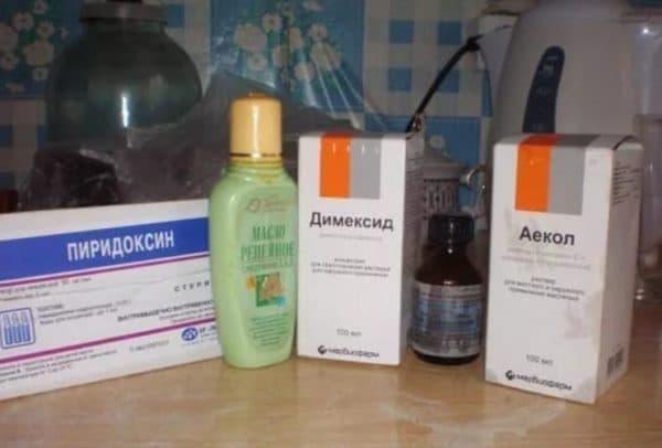 Компоненты для масок для волос с витаминами и димексидом