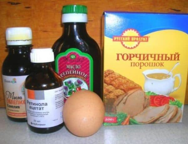 Маска для волос с витаминами и горчичным порошком