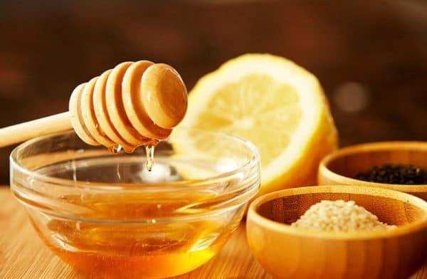 Маска для лица мед, лимон и кунжут