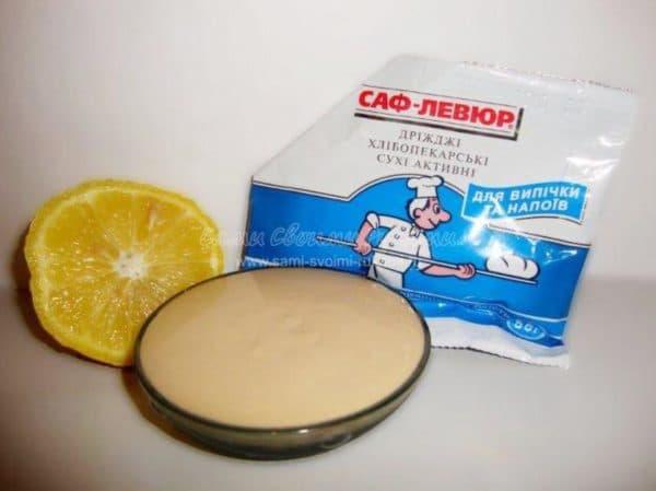 Дрожжевая маска для лица с соком лимона