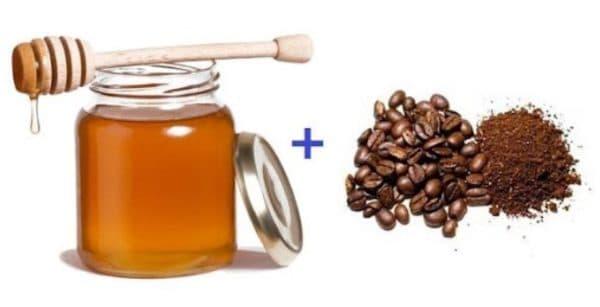Маска для лица с кофейной гущей и мёдом