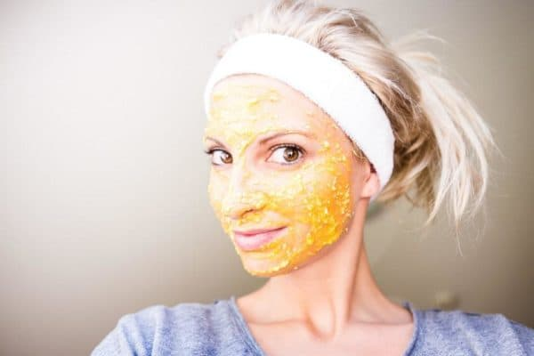 Тыквенная маска для лица с овсянкой