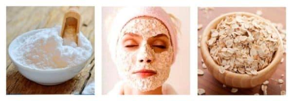 Содовая маска для лица с овсянкой