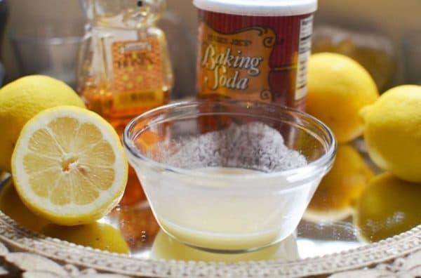 Маска для лица с мёдом, лимоном и содой