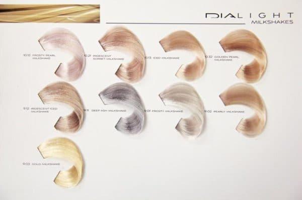 Палитра краски для осветления волос Dialight от L'Oreal