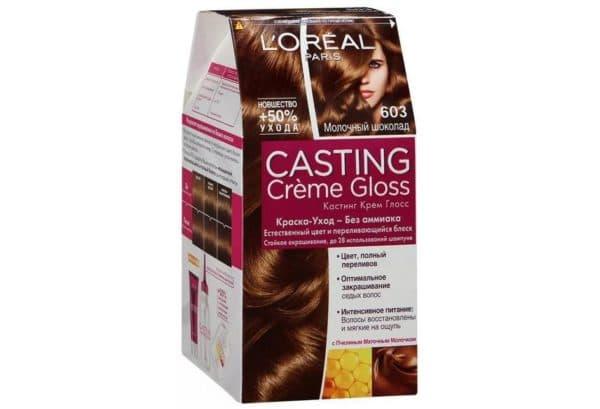 Краска для волос молочный шоколад L'Oreal Paris Casting Creme Gloss без аммиака, №603