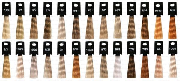 Палитра цветов краски для волос Оллин Мегаполис