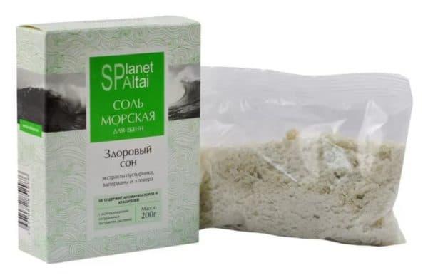 Морская соль для ванн SPlanet Altai