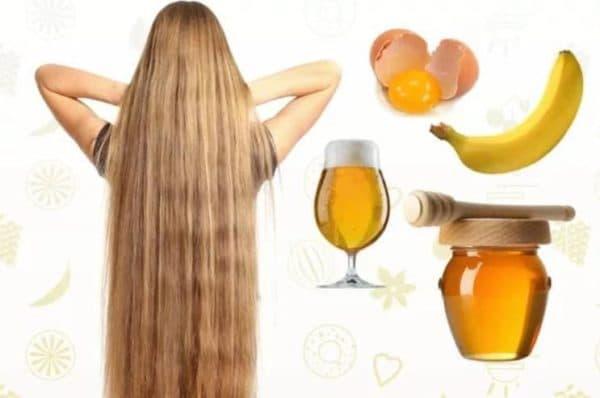 Пивная маска для волос с бананом и мёдом