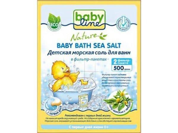 Морская соль для ванн BabyLine для детей с рождения