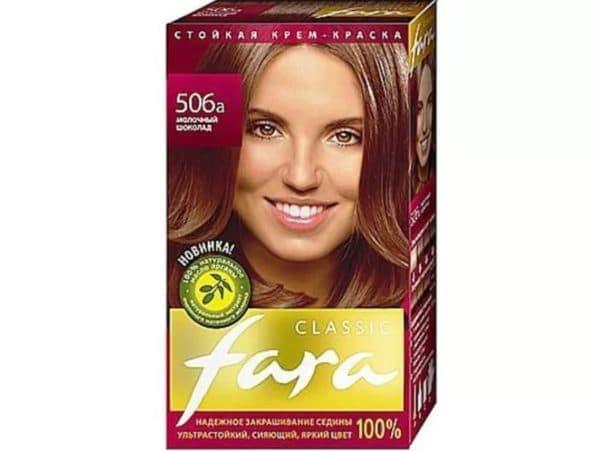 Краска для волос молочный шоколад Фара, №506А