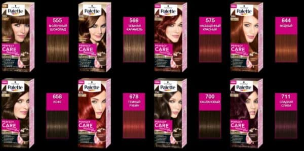 Краска для волос молочный шококлад Palette Perfect Care, №555 и другие оттенки