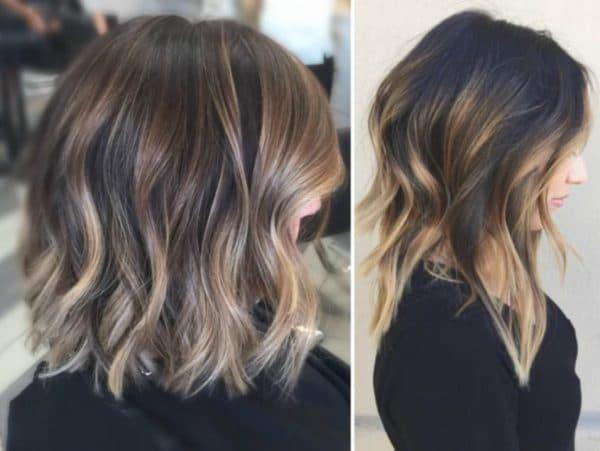 Окрашивание шатуш на средние волосы
