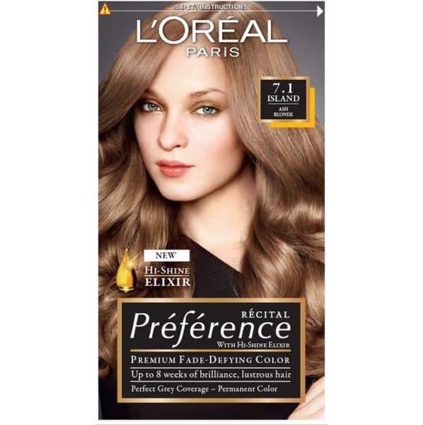 Оттенок 7.1 краски для волос Лореаль Преферанс