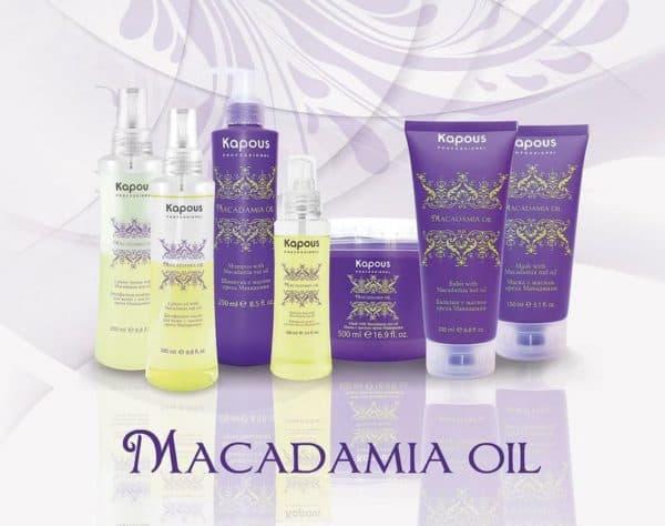 Профессиональный шампунь для волос Kapous Professional Macadamia Oil