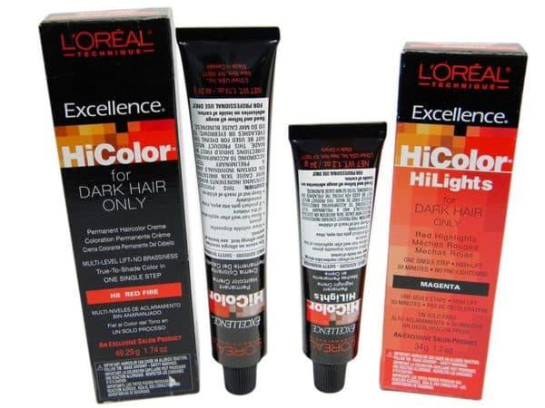 Красная стойкая краска для волос L'Oreal Excellence HiColor Red