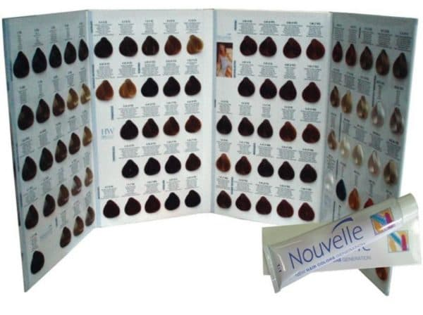 Палитра краски для волос Nouvelle