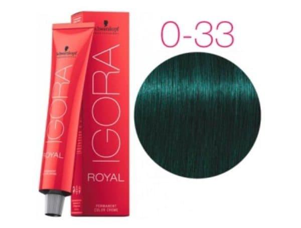 Антикрасный колор стойкой краски для волос SCHWARZKOPF PROFESSIONAL IGORA №0–33
