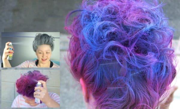 Ожидаемый эффект от краски спрея для волос