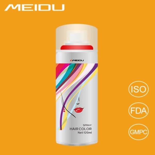 Белая спрей краска для волос Meidu